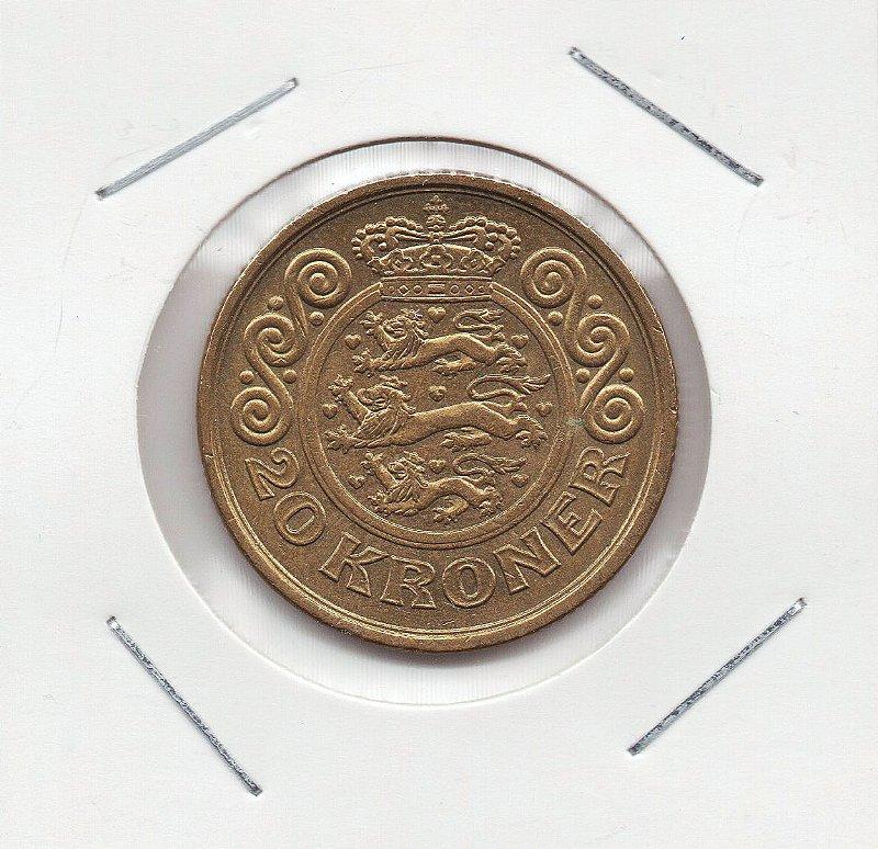 Moeda da Dinamarca - 20 Kroner - 1996