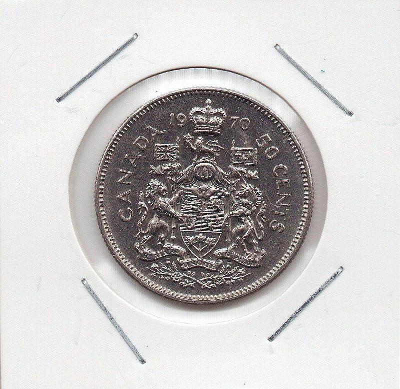 Moeda do Canadá - 50 cents - 1970