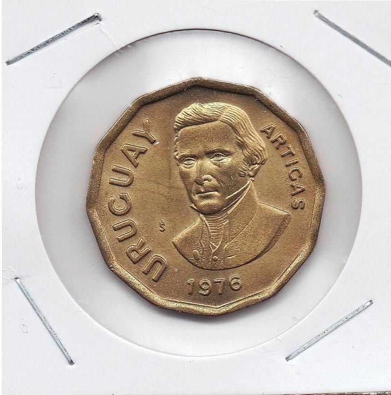 Moeda do Uruguai - 1 Nuevo Peso - 1976
