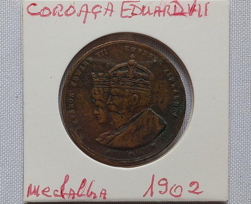 Medalha alusiva a coroação do Imperador Eduardo VII da Inglaterra