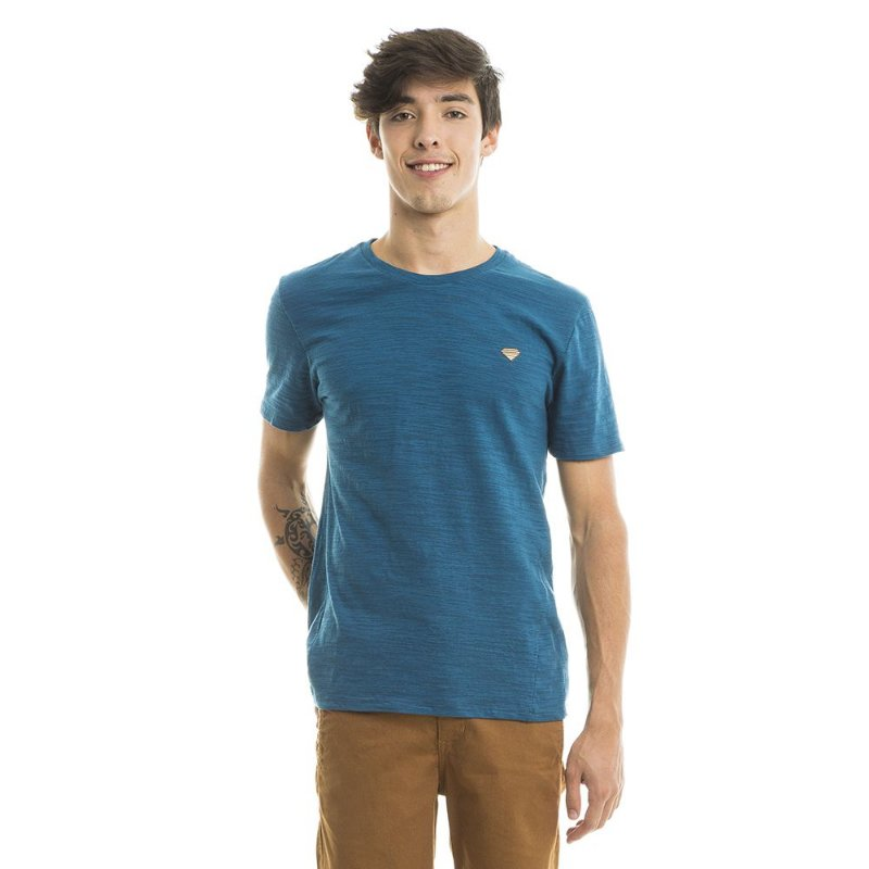 Camiseta Flame Lisa Azul Claro