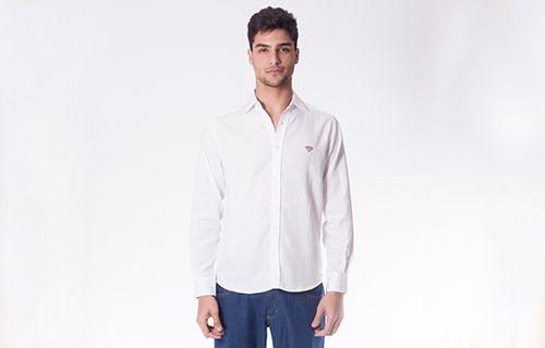 Camisa Tricoline Lisa Branca