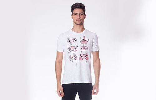 Camiseta Flame Branca