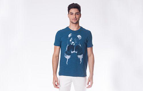 Camiseta UFC Panda Azul