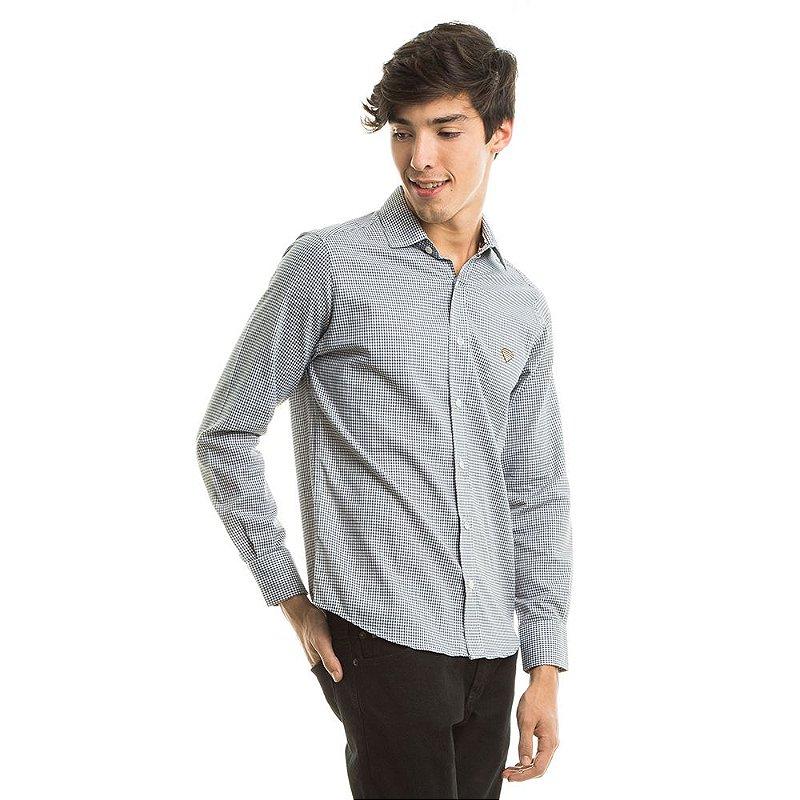 Camisa Tricoline Stars Cinza