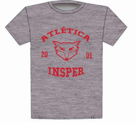 Camiseta Atlética Cinza