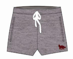 Shorts Moletom Feminino Cinza