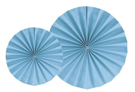 LEQUE AZUL  25 cm  (2 UNIDADES)
