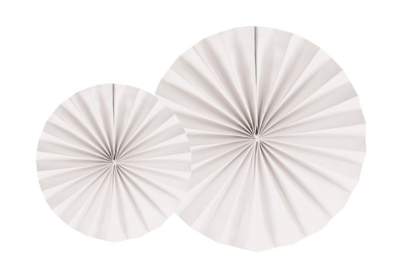 LEQUE BRANCO  35 cm (2 UNIDADES)