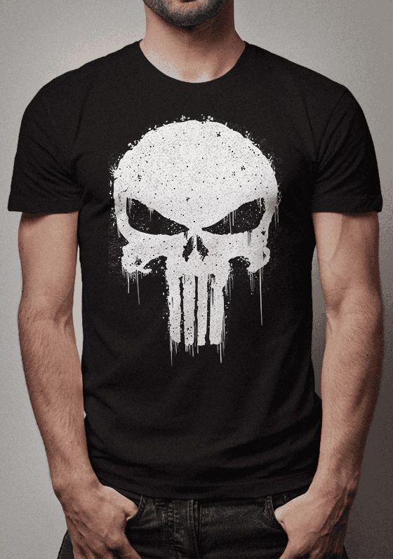 8a79caf46 Camiseta Caveira O Justiceiro Marvel - Sentido Geek Store