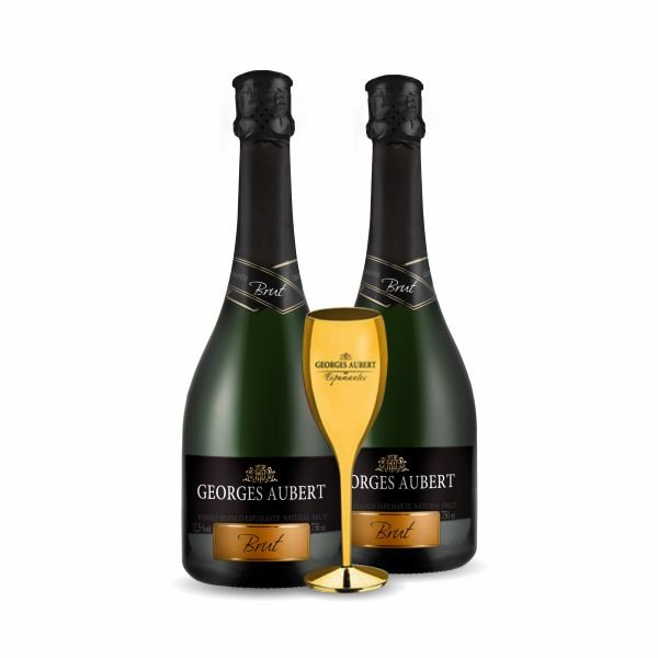 Kit Georges Aubert Brut + Taça