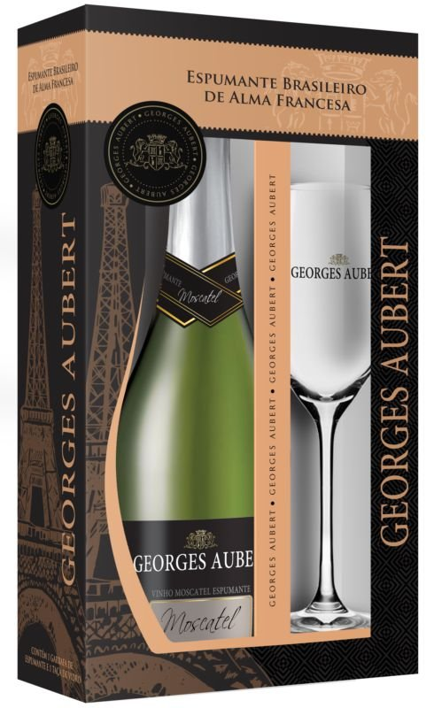 Kit Georges Aubert Moscatel com Taça