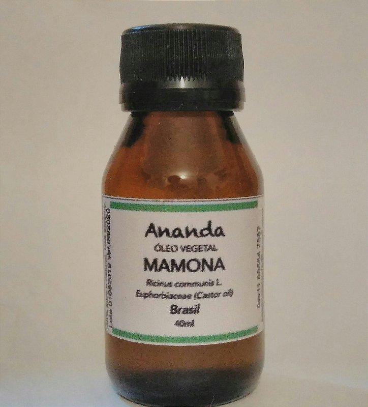 Óleo Vegetal de Mamona (Ricino) Prensado a Frio 40ml