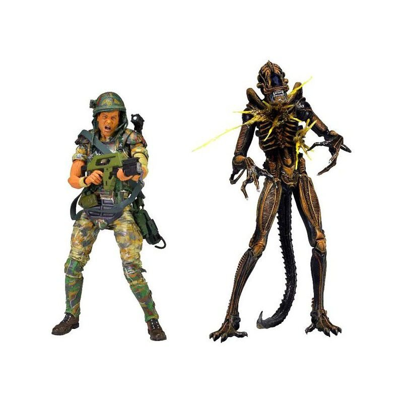 Private William Hudson Vs Xenomorph Warrior - 2 Pack - Aliens - Neca