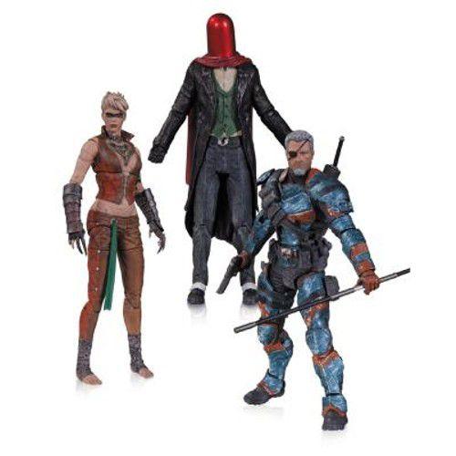 Arkhan Origins - The Joker as Red Hood, Copperhead, Deathstroke ( Unmasked ) - (3 Pack)