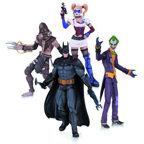 Batman Arkham Asylum - Joker, Batman, Harley Quinn & Scarecrow (4 Pack) - Dc Collectibles