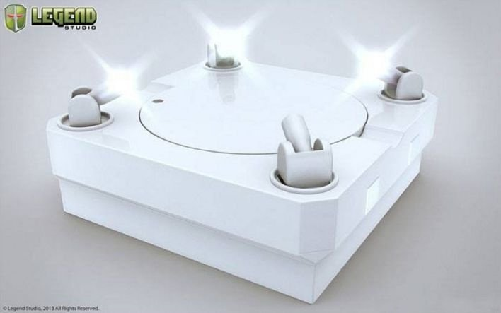 Master Light Revolving (White) - Display Stage