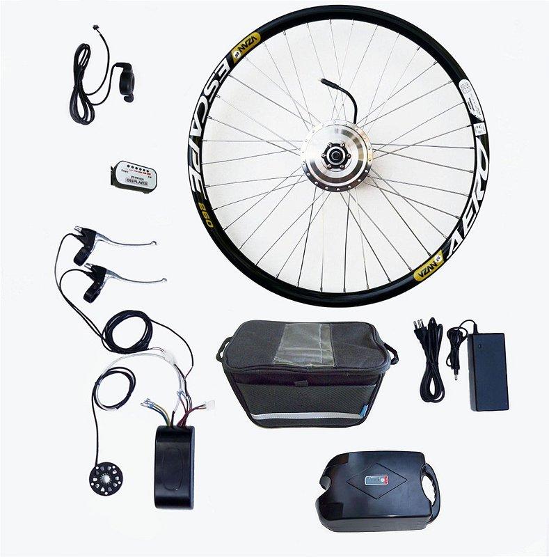 Kit Bicicleta Elétrica Bateria Lítio 36V/350W- MODELO 1