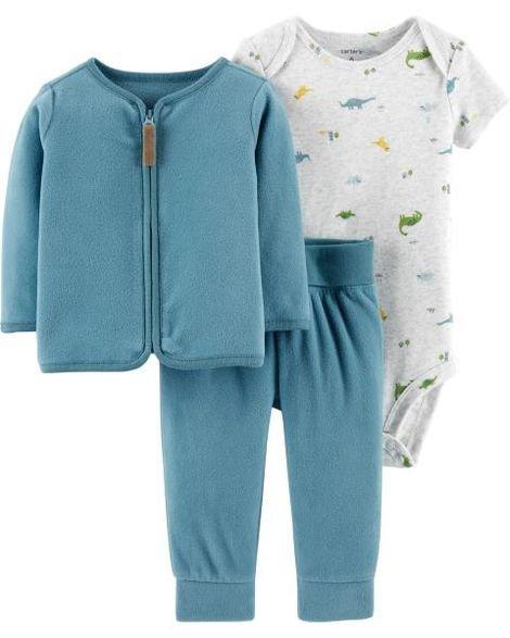 decf34e3e Conjunto 3 peças carters cardigan, calça e body manga curta - Baby ...