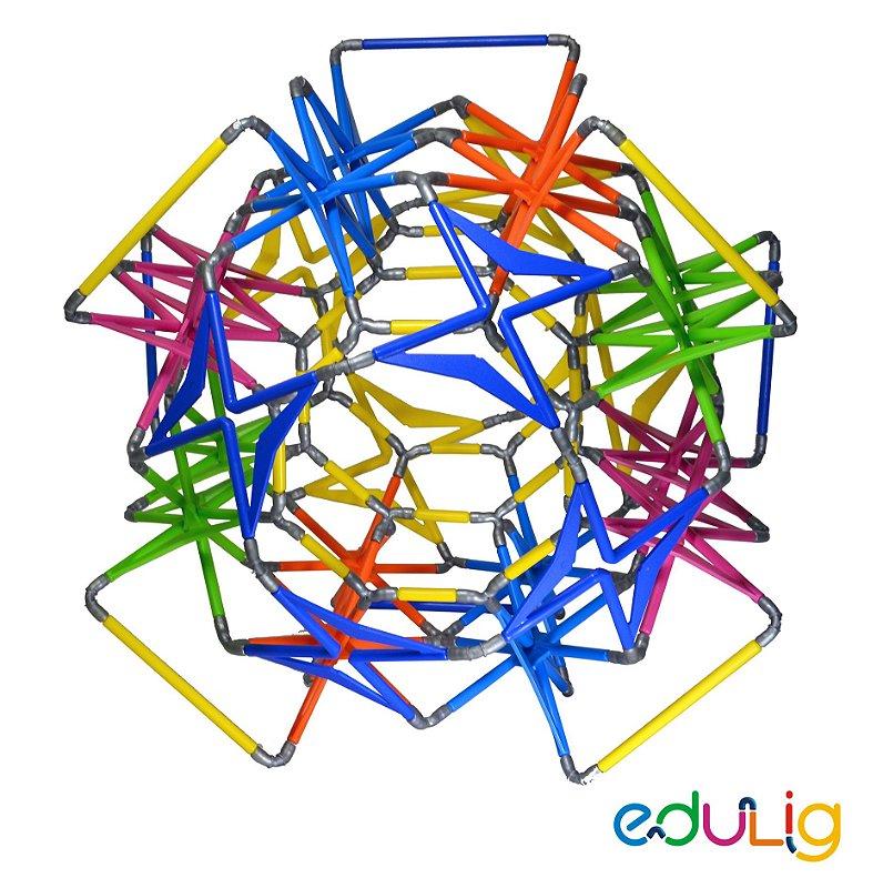 Quebra-cabeça Edulig Puzzle 3D - Asteróide -  152 peças e conexões - 6 cores - Edulig
