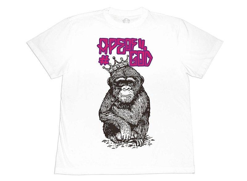 Camiseta Ape of GOD King Branca