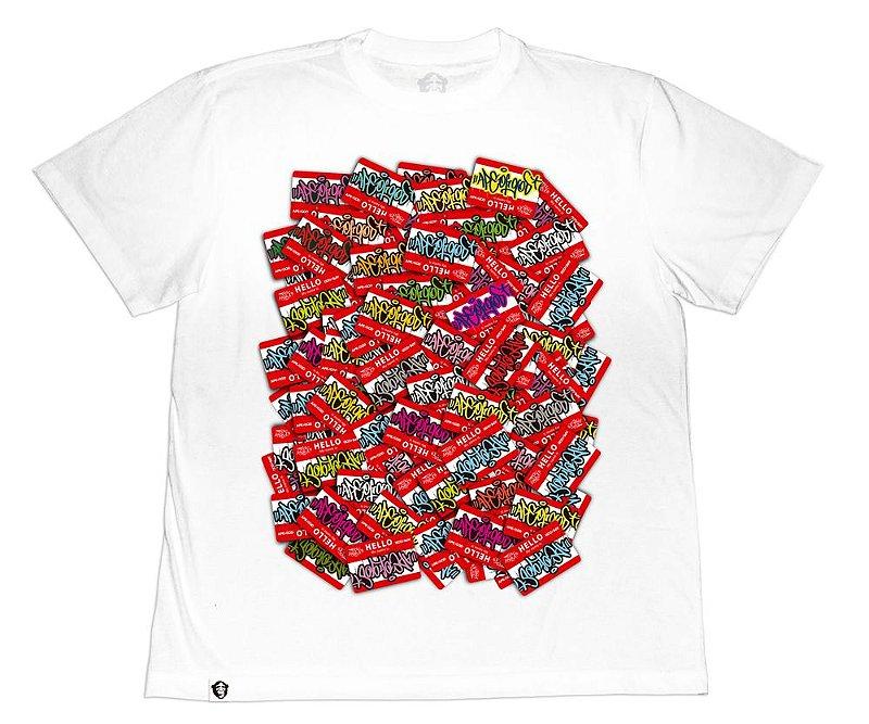 Camiseta Collab APE of GOD x Ink Art Tattoo Hello Branca