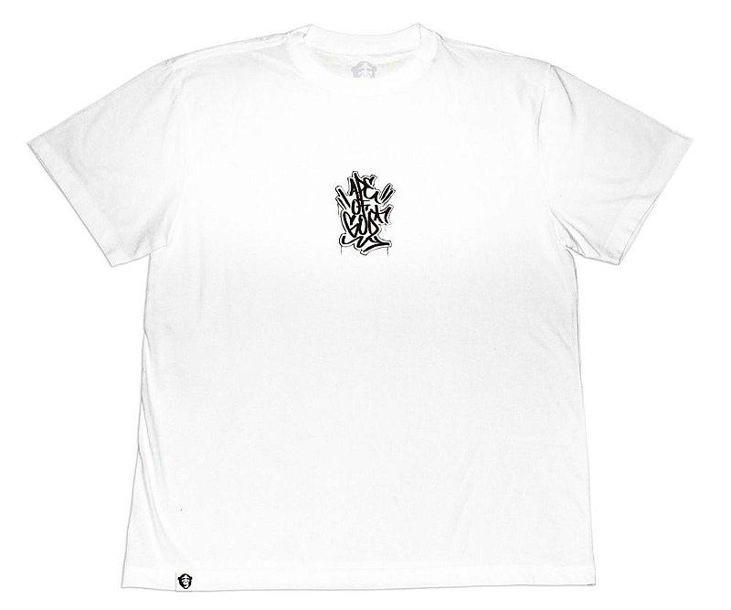 Camiseta Collab APE of GOD x Ink Art Tattoo Tag P branca