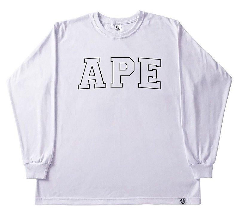 Camiseta manga longa Bordada branca