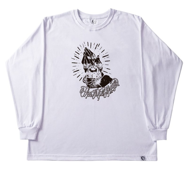 121. CAMISETA MANGA LONGA BRANCA THE APES PRAYER