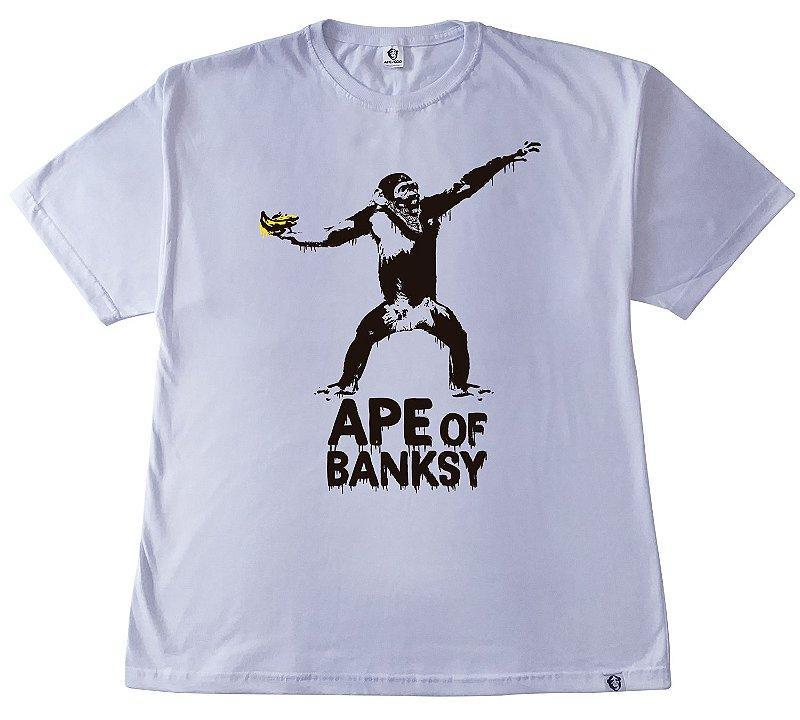 124.1. CAMISETA BRANCA APE OF BANKSY