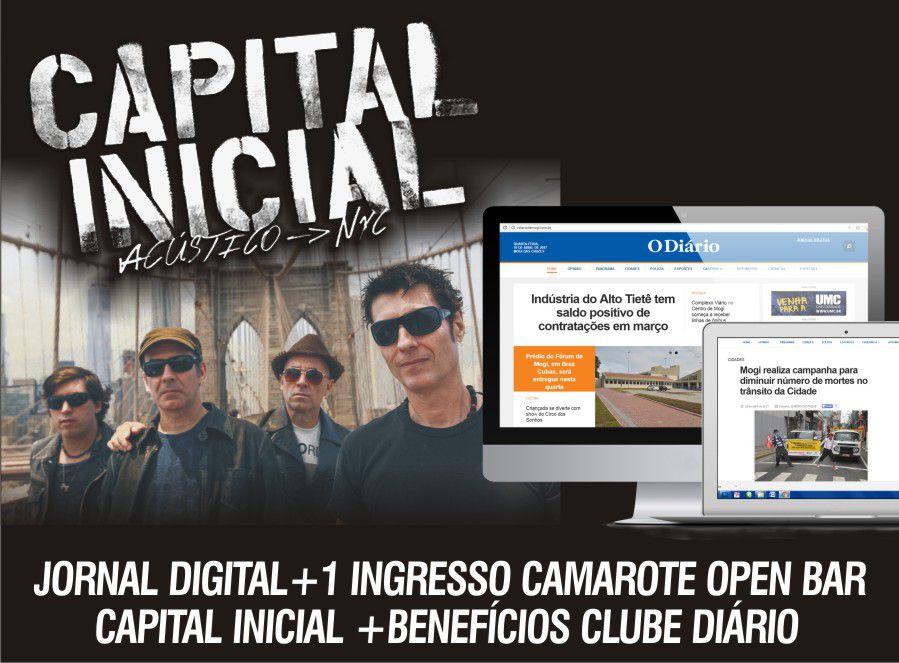 JORNAL DIGITAL +1 INGRESSO CAMAROTE OPEN BAR CAPITAL INICIAL+ BENEFÍCIOS CLUBE DIÁRIO