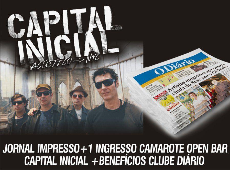 ASSINATURA JORNAL IMPRESSO + 1 INGRESSO CAMAROTE OPEN BAR CAPITAL INICIAL + BENEFÍCIOS CLUBE DIÁRIO