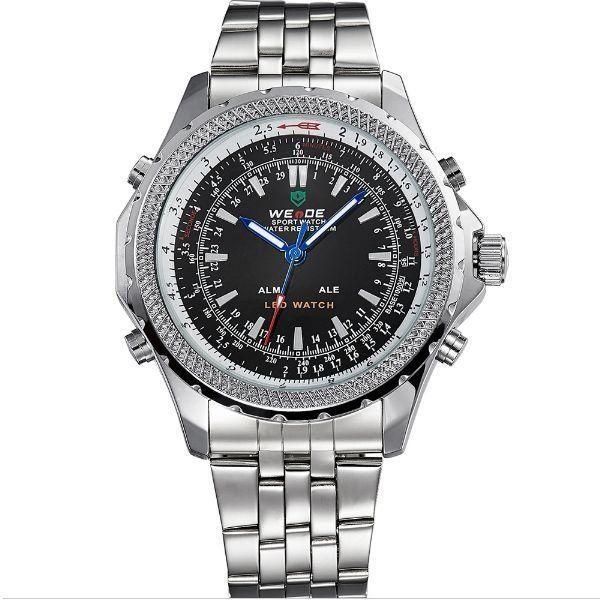 b41f6680191 Relógio Masculino Weide Anadigi WH-904 PT - ShopSublime - Aqui tem o ...