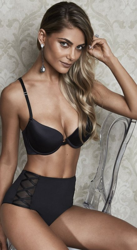 Sutiã Push Up Strappy Bra Preto