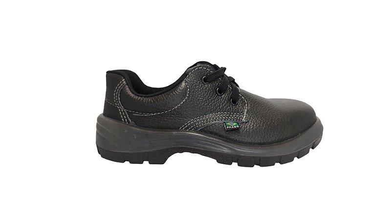 Sapato de segurança cadarço com biquera de aço