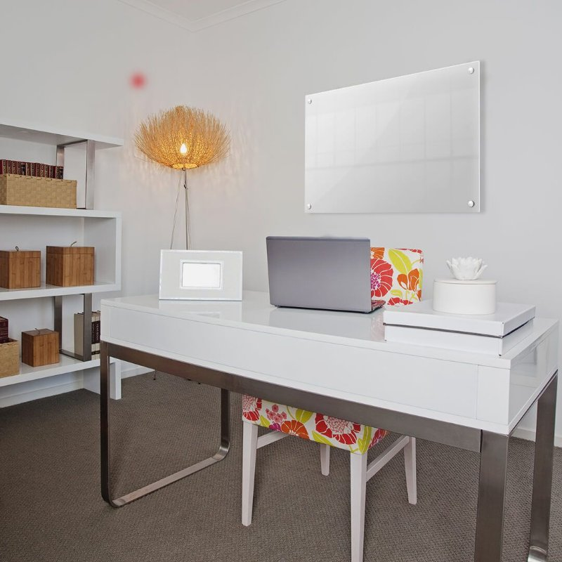 Lousa de Vidro Branca 100x60cm