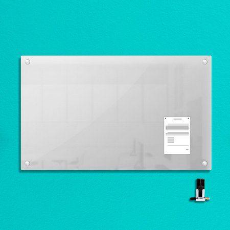 Lousa de Vidro Magnética Branca 120x80cm