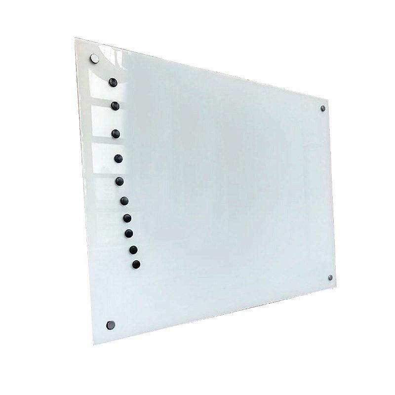Lousa de Vidro Magnética Branca 80x50cm