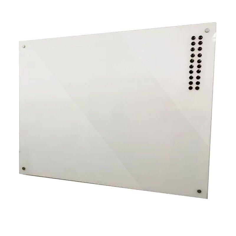 Lousa de Vidro Magnética Branca 120x80