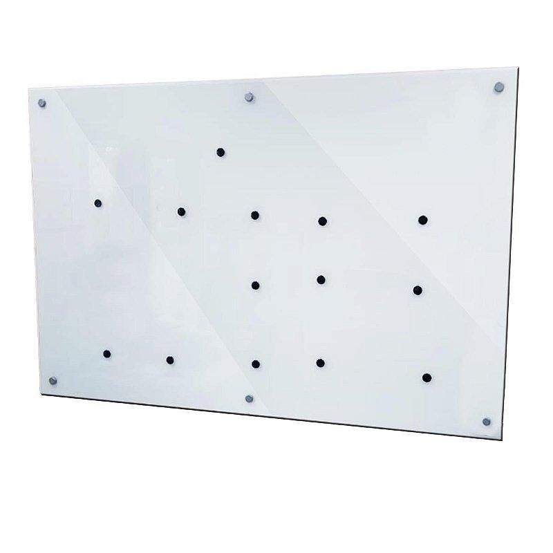 Lousa de Vidro Magnética Branca 160x100