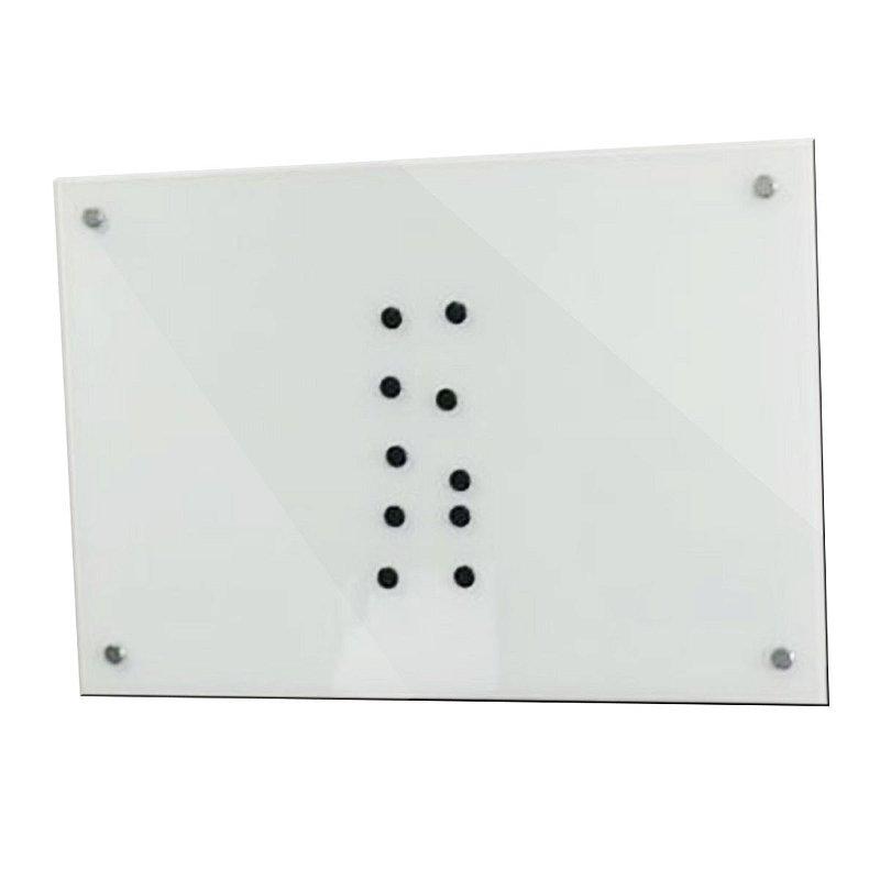 Lousa de Vidro Magnética Branca 60x40