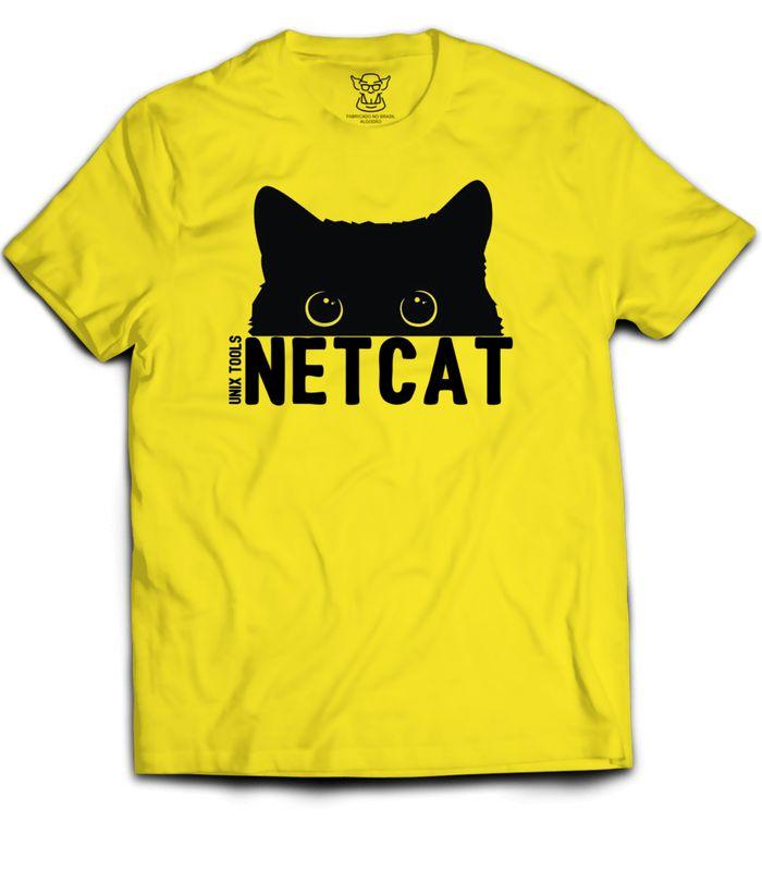 Camiseta Linux Netcat Unix Tools faz referência a ferramenta de rede Netcat muito conhecida por administradores e hackers, pois  a ferramenta possibilita estabelecer conexão reversa em servidores.