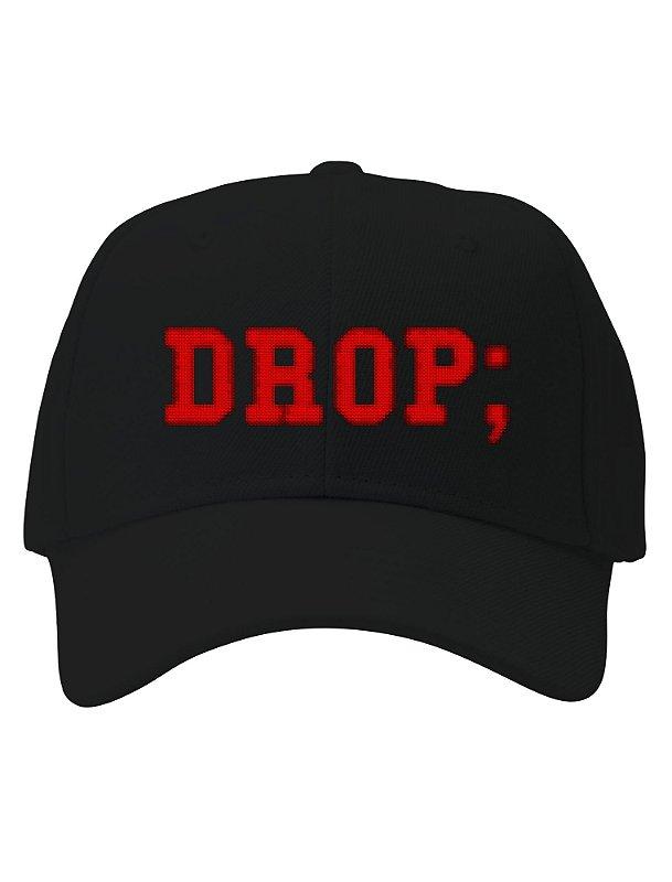 O Boné Drop Table - Bordado faz ao comando temido por todo DBA e desenvolvedor.