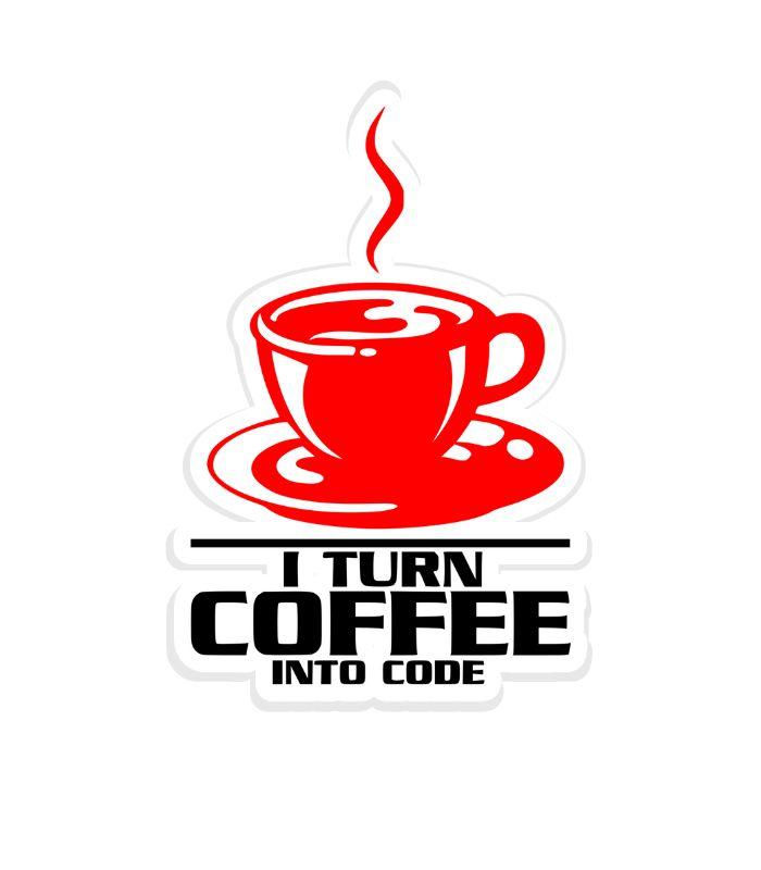 O adesivo Programador I Turn Coffee Into Code faz referência aos programadores que são verdadeiras máquinas de produzirem códigos e seu combustível é nosso adorado Café.