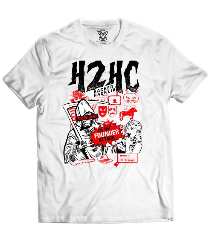 Camiseta Hacker produzida exclusivamente para o evento H2HC e em parceria vendida em nossa loja. Essa camiseta traz um arte exclusiva e referencias ao game Watch Dogs.
