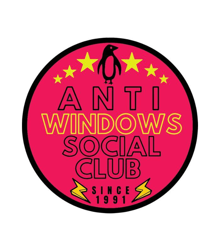 Nossos adesivos Imaginário Nerd & Geek são produzidos em material de alta qualidade. O adesivo Hacker Anti Windows Social Club é uma homenagem aos admins Linux de todo mundo. Tem um designer semelhante a um lebel vintage de garrafas.