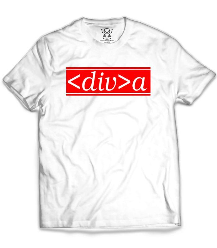 Essa beleza de camiseta criada especialmente para você programadora ou fã das artes místicas dos códigos. Nossa camiseta programadora ( Diva ) é feita com Filme de recorte Vermelho dando um belo contraste nas cores das camisetas Branca.