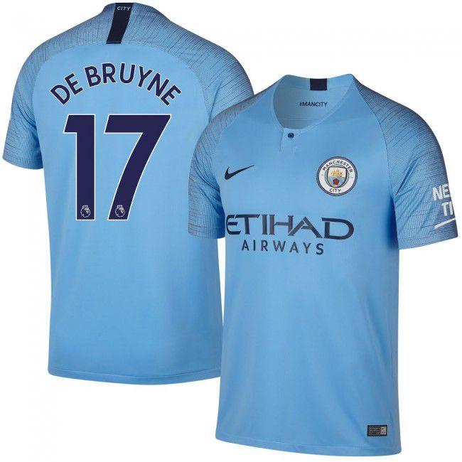 Camisa Manchester City I De Bruyne Nº 17 18 19 Nike Azul - OUTLET ... 4349c6ab6610a