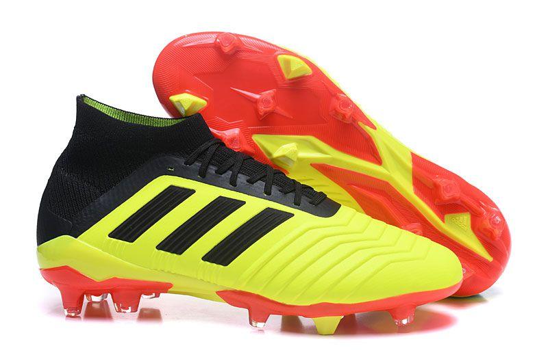 Chuteira adidas Campo Predator 18+ Amarela Vermelha - OUTLET SOCCER ... 7282d9ae267af