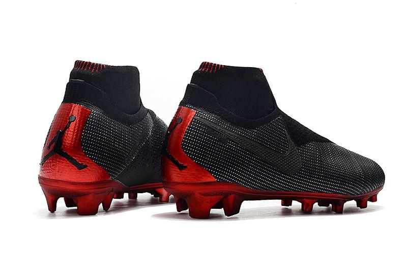 89709e3391 Chuteira Nike Cano Longo Phantom VSN Shadow Elite Jordan Preta e Vermelha